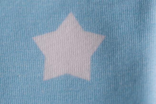 Baby blue stars baby hat
