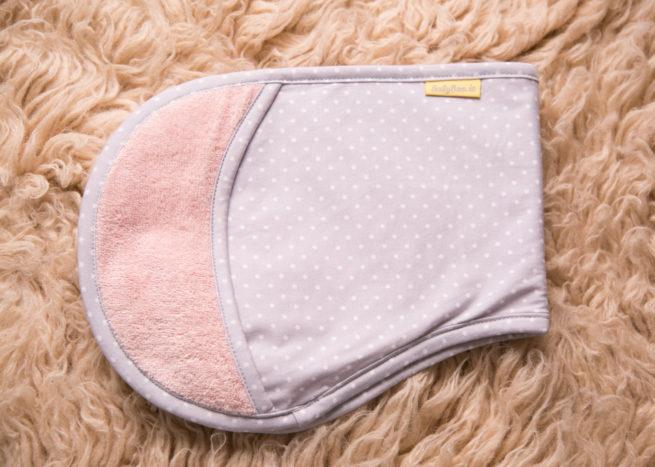Blush and grey stars burp towel