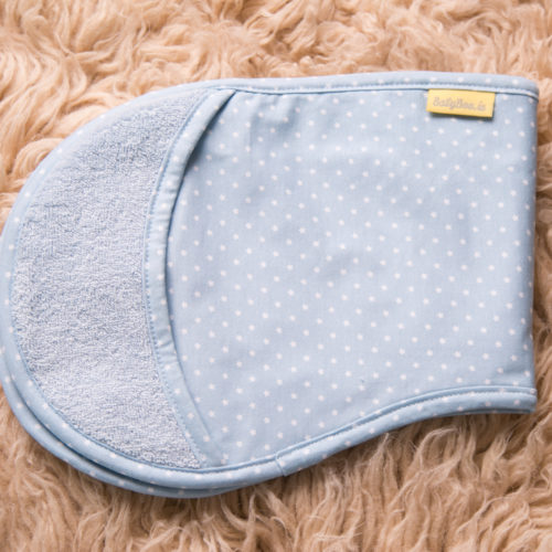 Baby blue stars burp towel