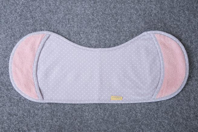 Grey and blush pink Burp Towel