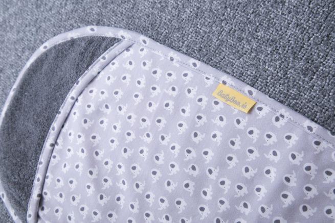 Grey Ellie Elephant Burp Towel
