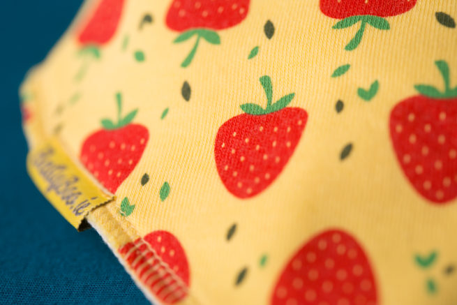 Yellow Strawberries Bandana bib