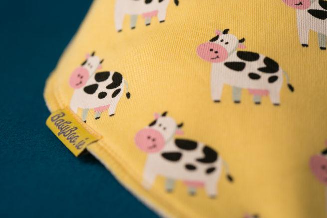Lemon Cows Bandana bib