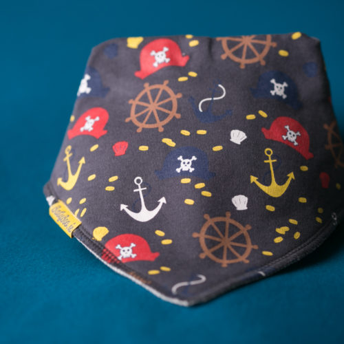 Grey Pirates Bandana bib