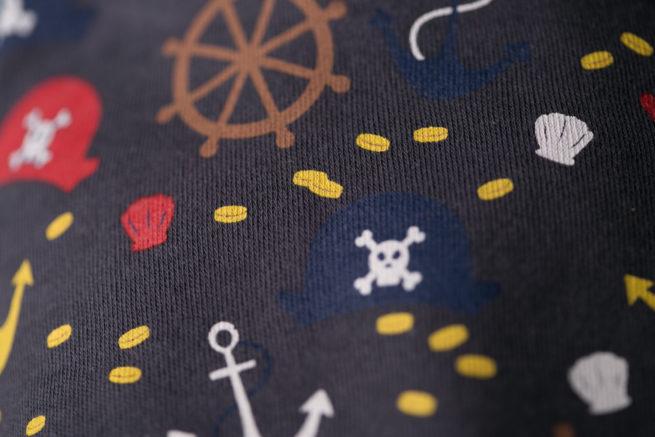 Grey Pirates Bandana bib