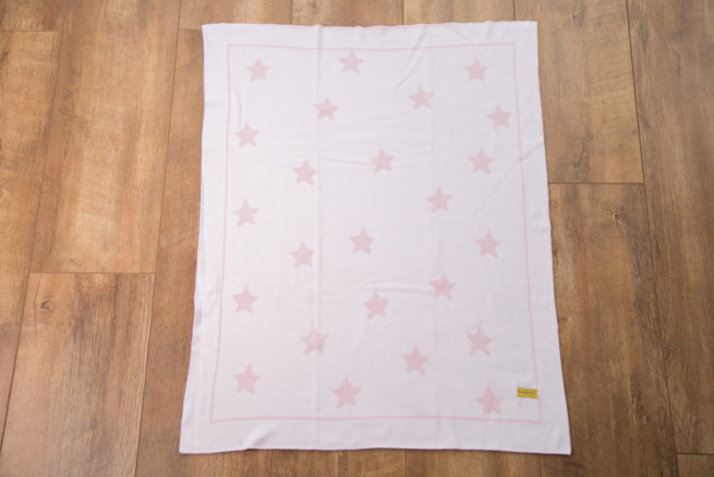 Pink stars organic cotton blanket