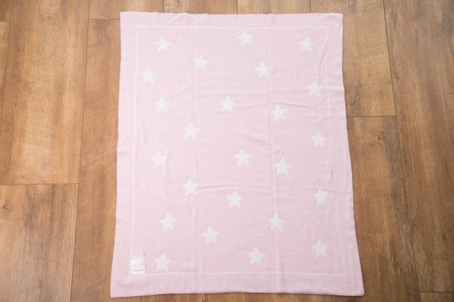 Pink stars organic cotton blanket