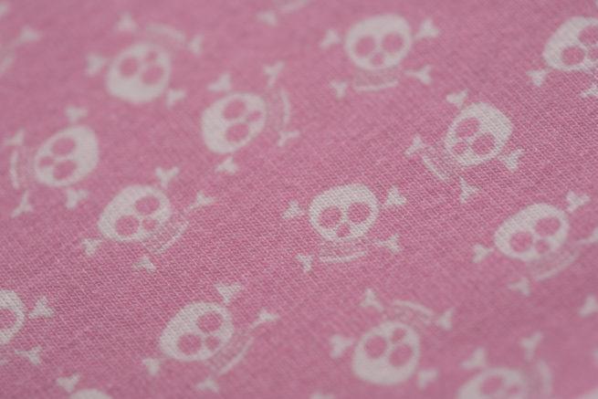 Pink skulls littleboo newborn bib