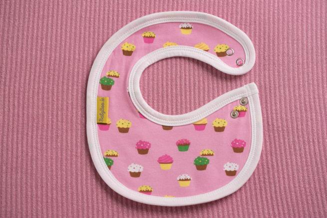 Pink cupcakes littleboo newborn bib