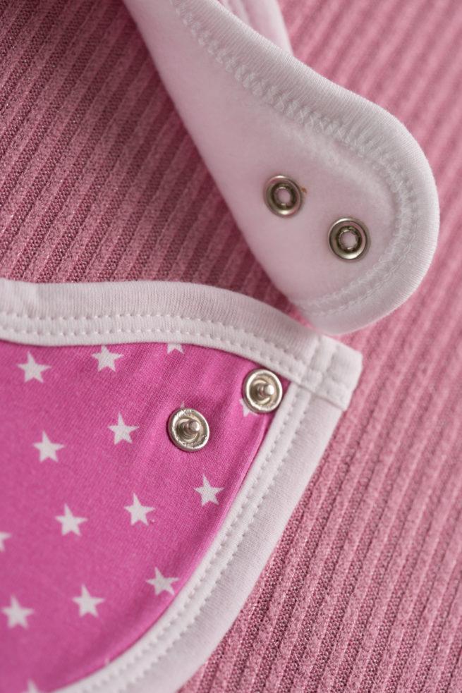 Cerise pink stars littleboo newborn bib