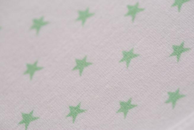 Mint stars littleboo newborn bib