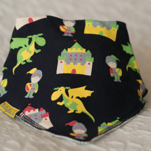 Knights and dragons dribbleboo bandana bib