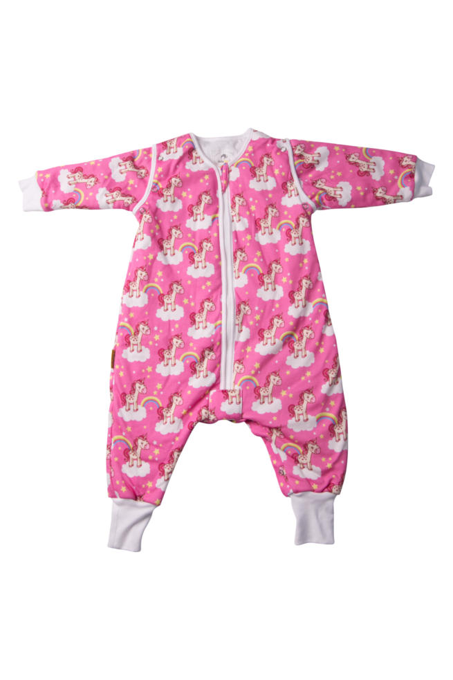 Unicorns organic cotton sleepsuit
