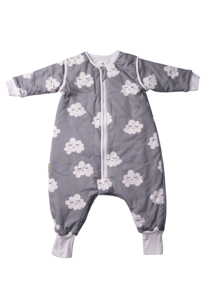 Sleepy clouds organic cotton sleepsuit