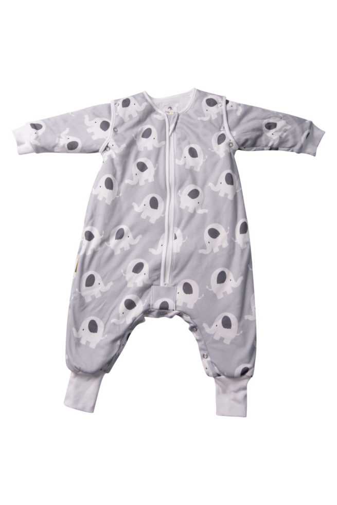 Ellie elephant orghanic cotton sleepsuit