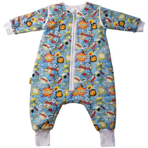 Superhero organic cotton sleepsuit