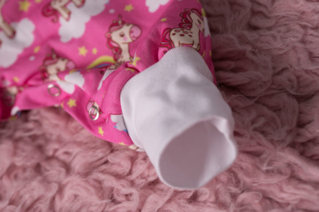 SnuggleBoo sleepsuit pink unicorns