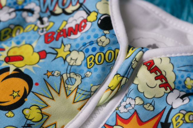 SnuggleBoo sleepsuit Superhero