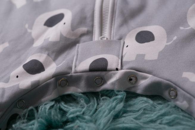 SnuggleBoo sleepsuit Ellie elephant