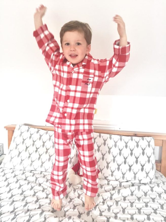 Traditional flannel red gingham pyjamas