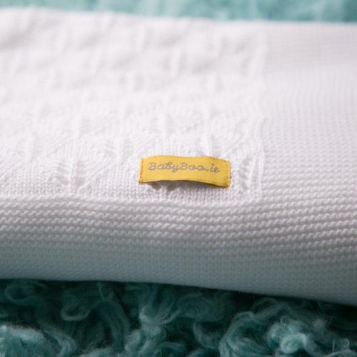 Organic cotton christening blanket