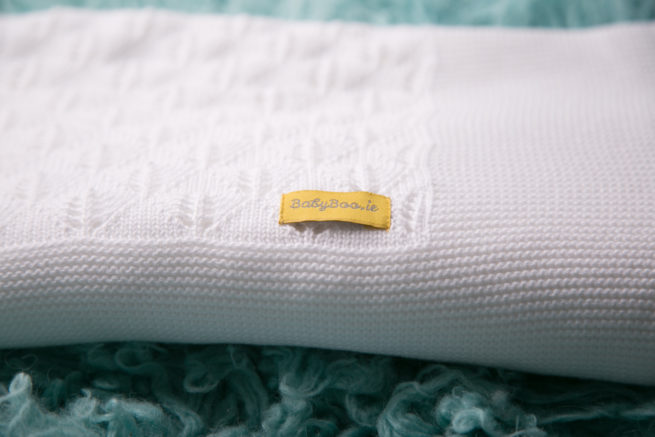 Organic cotton christening blanket