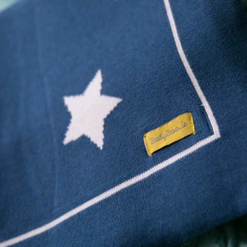 Navy stars organic cotton blanket