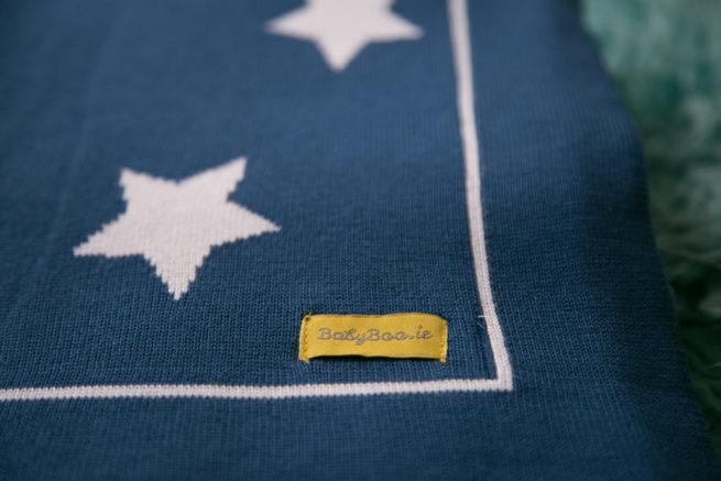 Navy stars organic cotton blanket