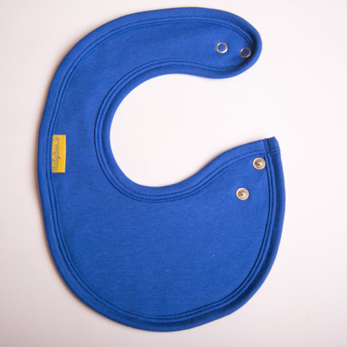 Royal blue organic newborn littleboo bib