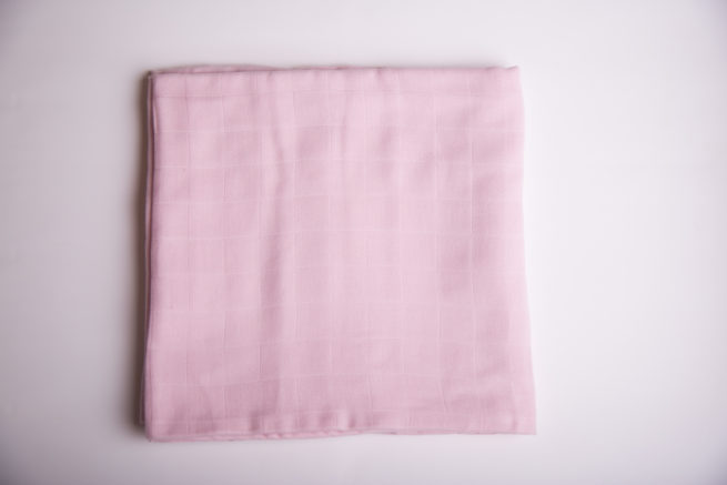 Just pink super square organic cotton muslin