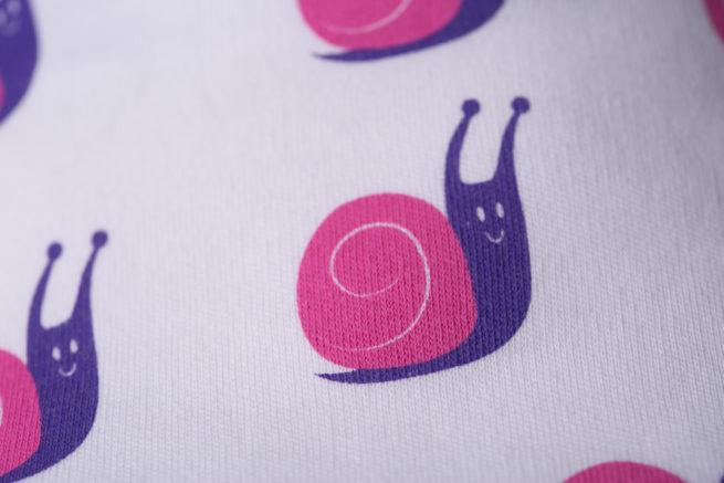 Snails organic cotton bandana bib