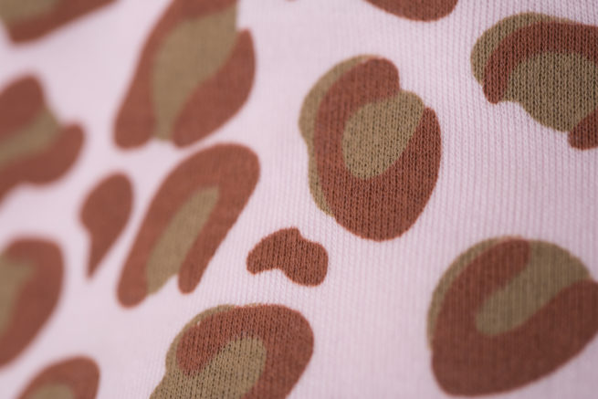 Leopard print organic cotton bandana bib