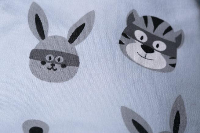 Superhero animals organic cotton bandana bib