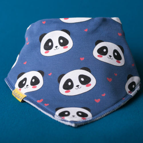 Pandas organic cotton bandana bib