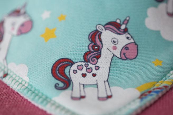 Mint unicorns organic cotton bandana bib