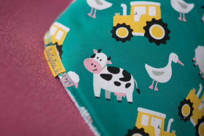 Jade farmyard organic cotton bandana bib