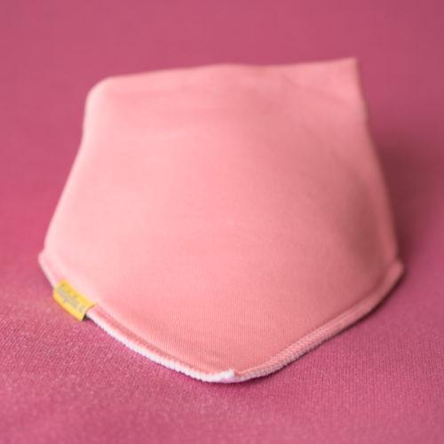 Just coral organic cotton bandana bib