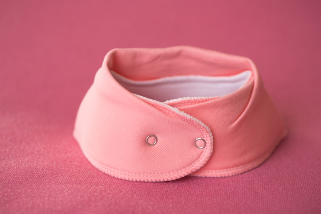 Just coral organic cotton bandana bib