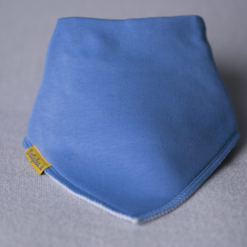 Cornflower blue organic cotton bandana bib