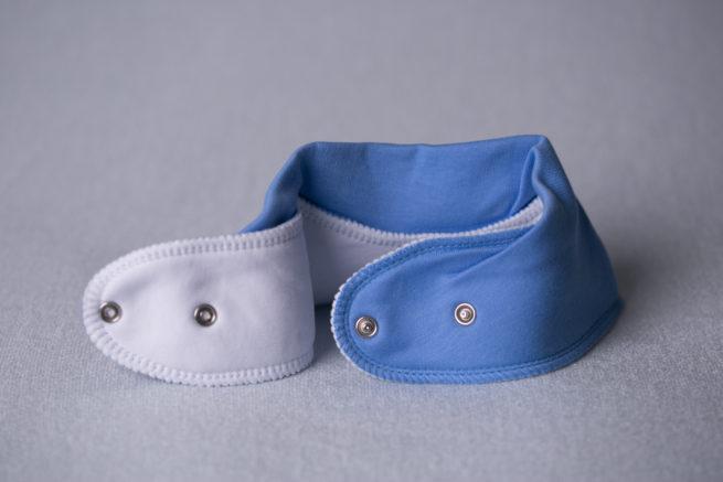 Cornflower blue organic cotton bandana bib