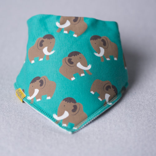 Marty Mammoth organic cotton bandana bib