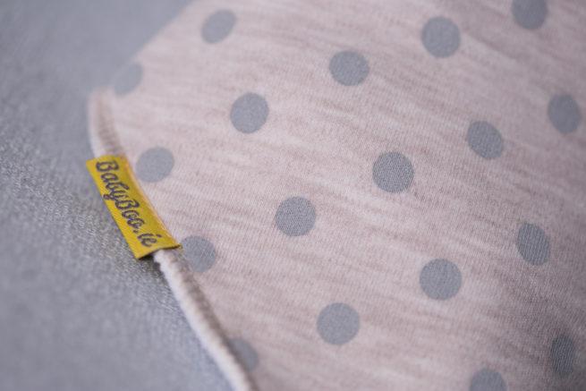 Sand polka organic cotton bandana bib