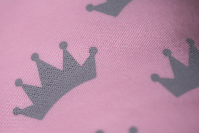 Pink crowns organic cotton bandana bib