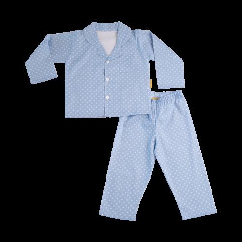 Blue organic cotton pyjamas