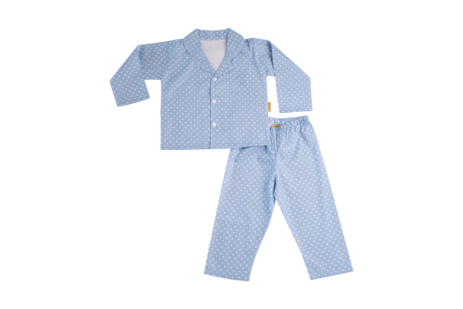 Blue organic cotton pyjamas