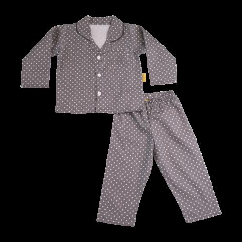 Grey organic cotton pyjamas