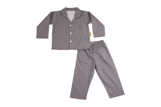 Grey organic cotton pyjamas
