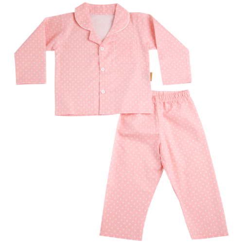Blush pink organic cotton pyjamas