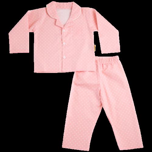 Blush pink organic cotton pyjamas