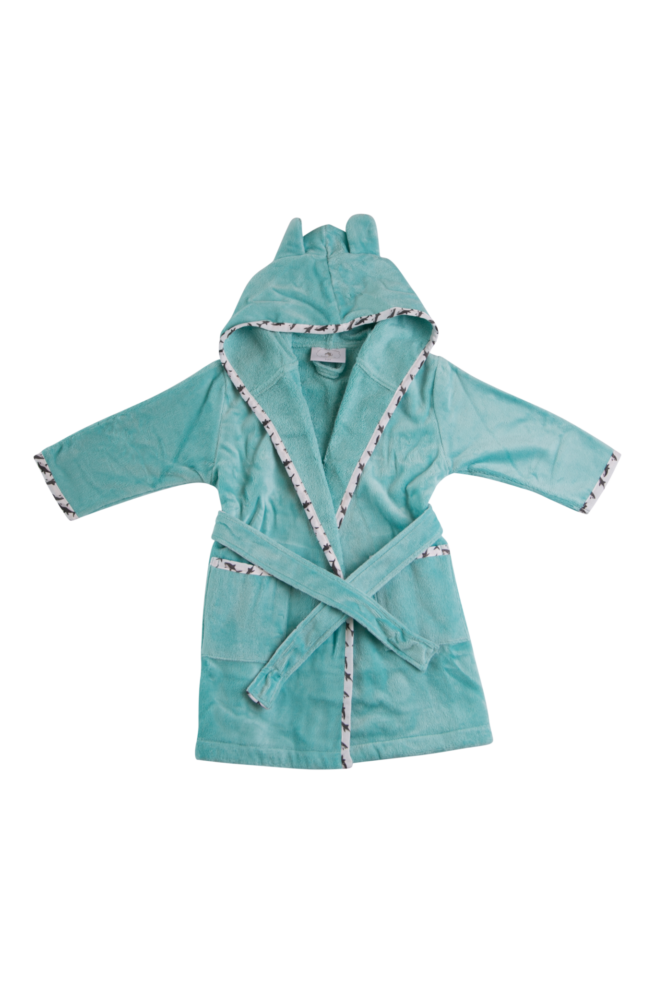 Aqua sharks organic cotton robe